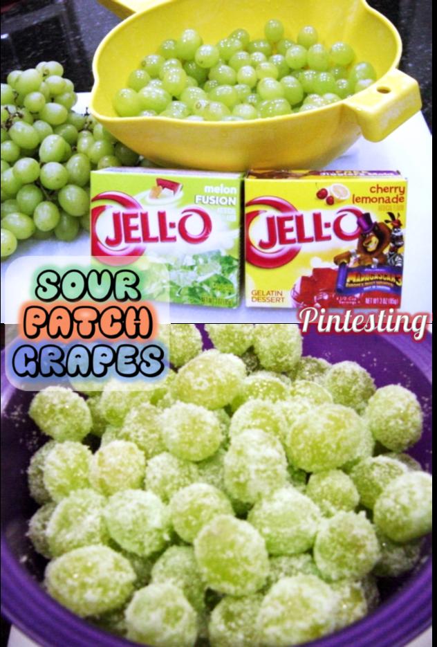 Pintesting Sour Patch Grapes