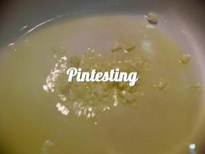 Saute garlic in EVOO