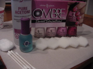Ombre Nail Art - Ingredients