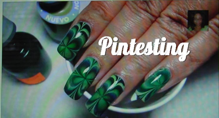 Four leaf clover water marble nail art tutorial httpyoutubewatchvthvyt11zrs prinsesfo Choice Image