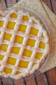 Lattice Lemon Pie