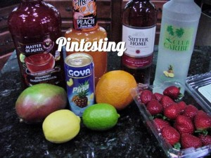 Sangria - Ingredients Pintesting