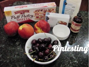 Peach and Cherry Tart - Ingredients - Pintesting