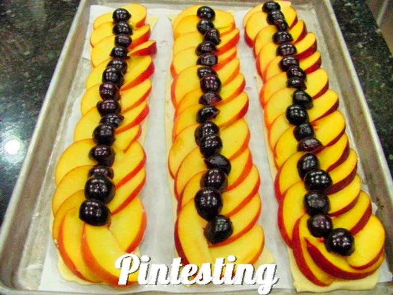 Pintesting Peach and Cherry Tart