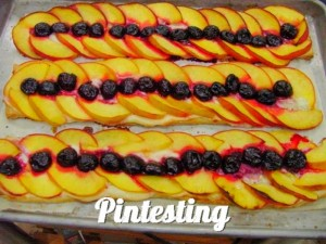 Peach and Cherry Tart - Finished - Pintesting