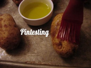 Outback Style Baked Potato - Oil Brushed - Pintesting