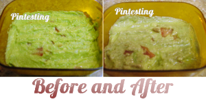 Saving Guacamole - Before and After - Pintesting
