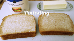 Grilled Cheese Cook-off - Mayo vs. Butter - Pintesting