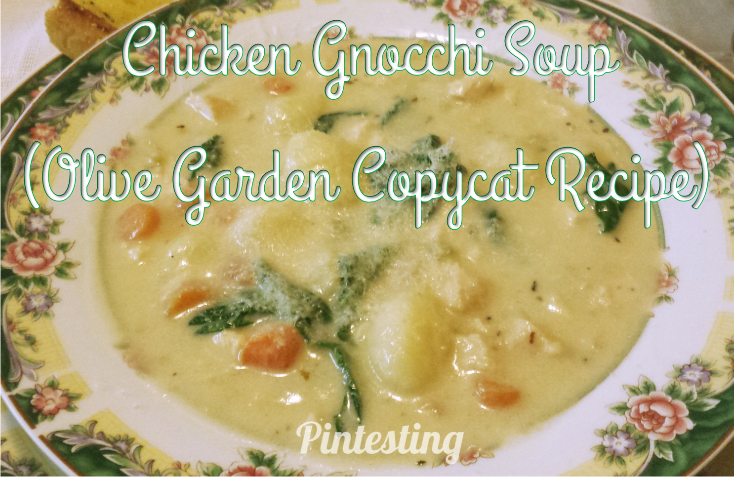 Pintesting Chicken Gnocchi Soup (Olive Garden Copycat Recipe)