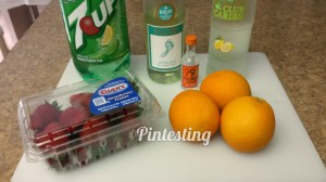Sunset Sangria - Ingredients