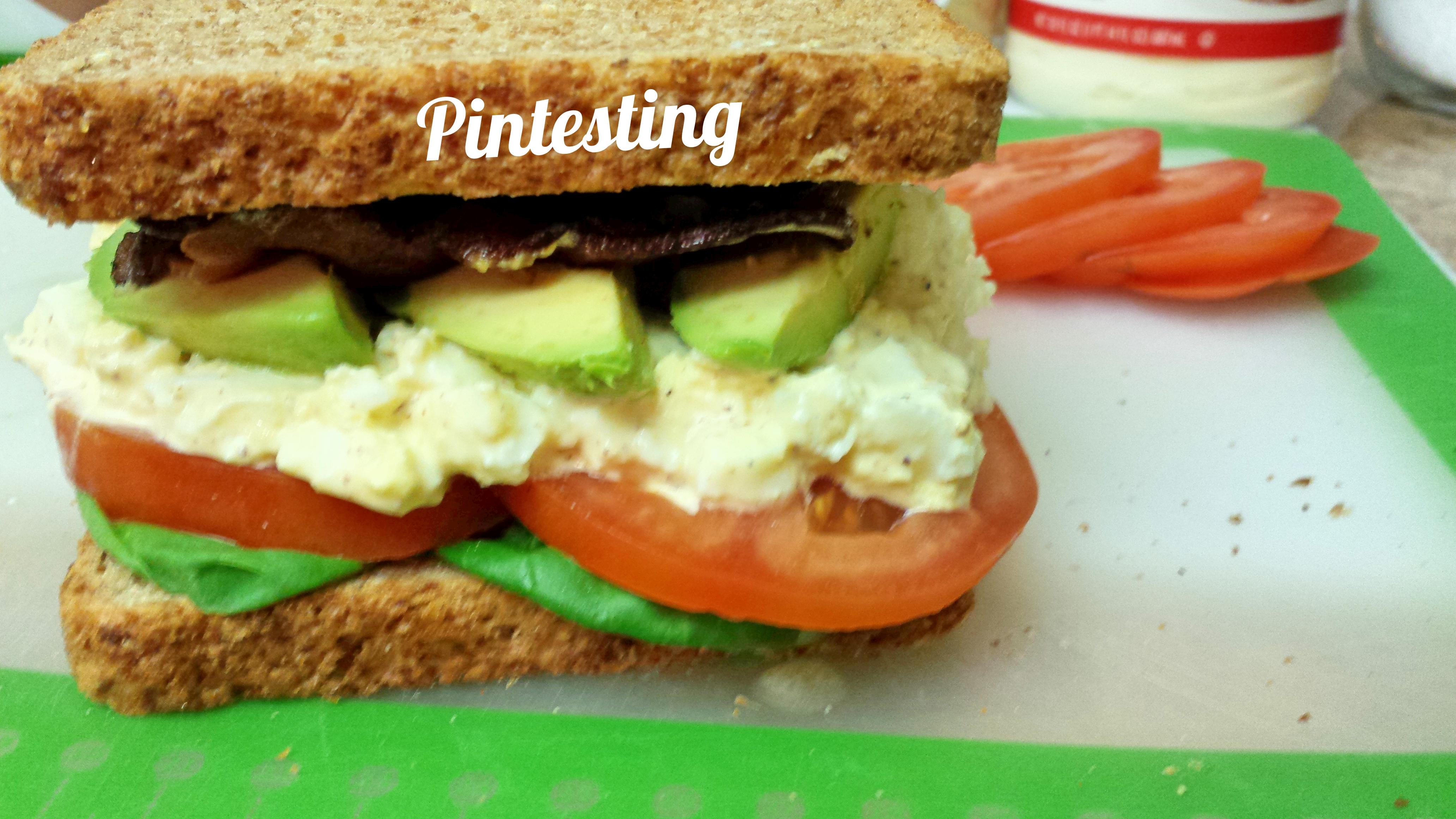 Egg Salad BLTA Sandwich Finished