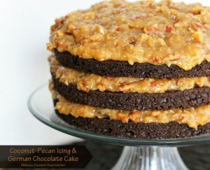 Coconut-Pecan Icing and German Chocolate Cake Original Pin