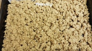 Pintesting - Oatmeal Fudge Bars - Top with reserved crust mixture