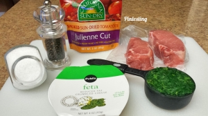 Pintesting - Spinach, Feta and Sundried Tomato Stuffed Pork Chops - Ingredients