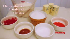 Pintesting Cherry Almond Shortbread Cookies - Ingredients
