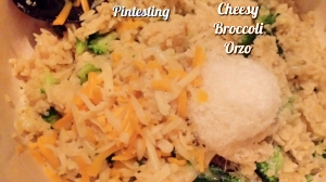 Pintesting Cheesy Broccoli Orzo