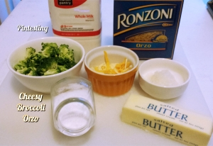 Pintesting Cheesy Broccoli Orzo