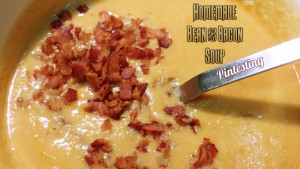 Pintesting Homemade Bean and Bacon Soup