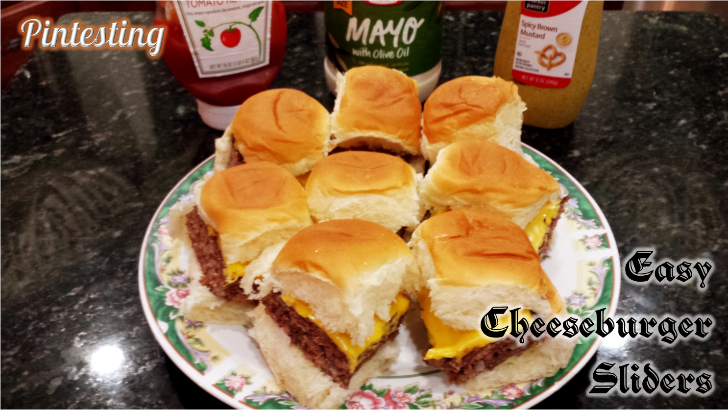 Pintesting Easy Cheeseburger Sliders