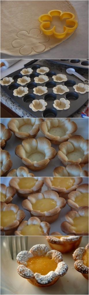 Pintesting Flower Shaped Mini Lemon Curd Tarts - ORIGINAL PIN