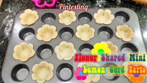 Pintesting Flower Shaped Mini Lemon Curd Tarts