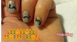 Pintesting Christmas Lights Nails