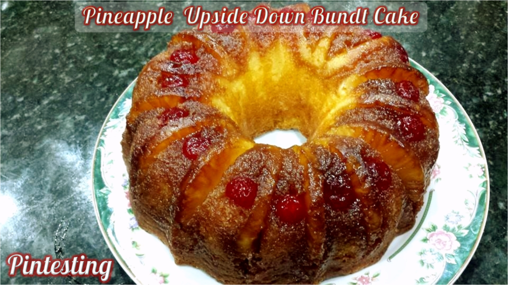 Pintesting Pineapple Upside Down Bundt Cake