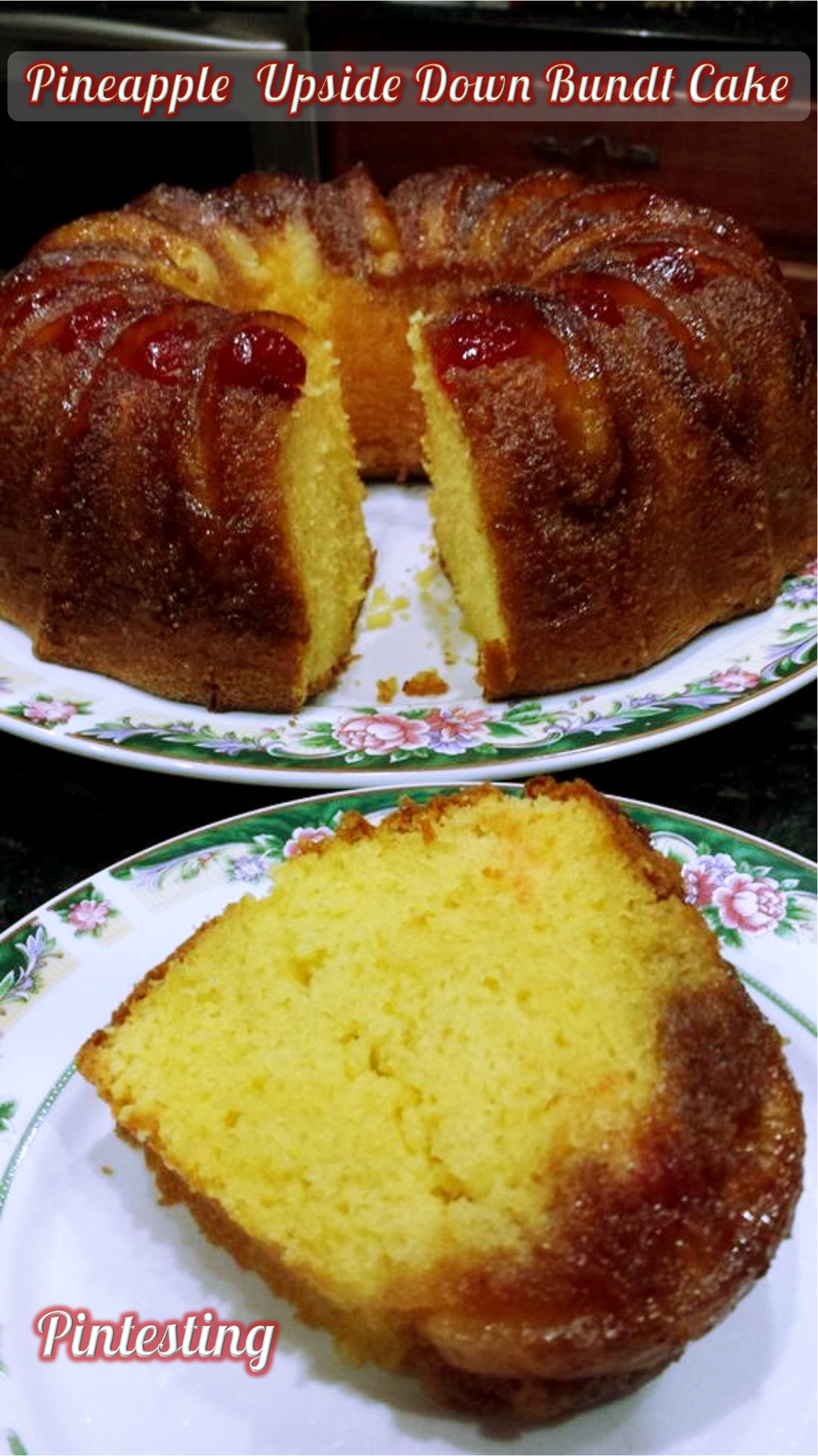 Pineapple Upside Down Bundt Cake Pintesting