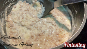 Pintesting Cook the Book Bechamel - Sausage Gravy