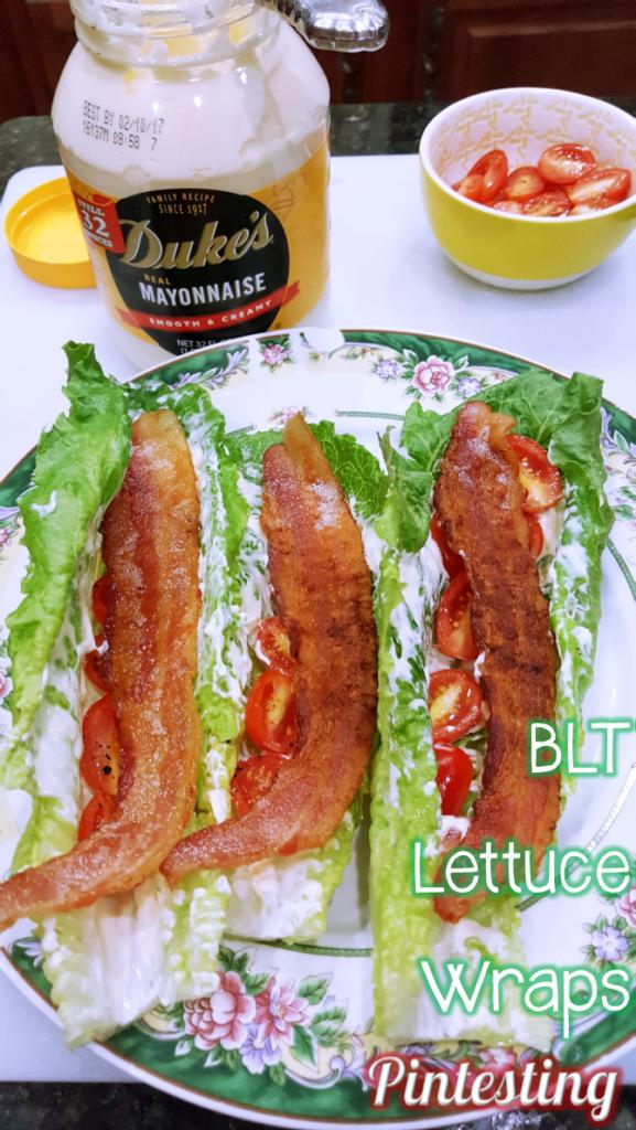 Pintesting BLT Lettuce Wraps