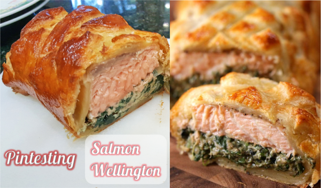 Pintesting Salmon Wellington