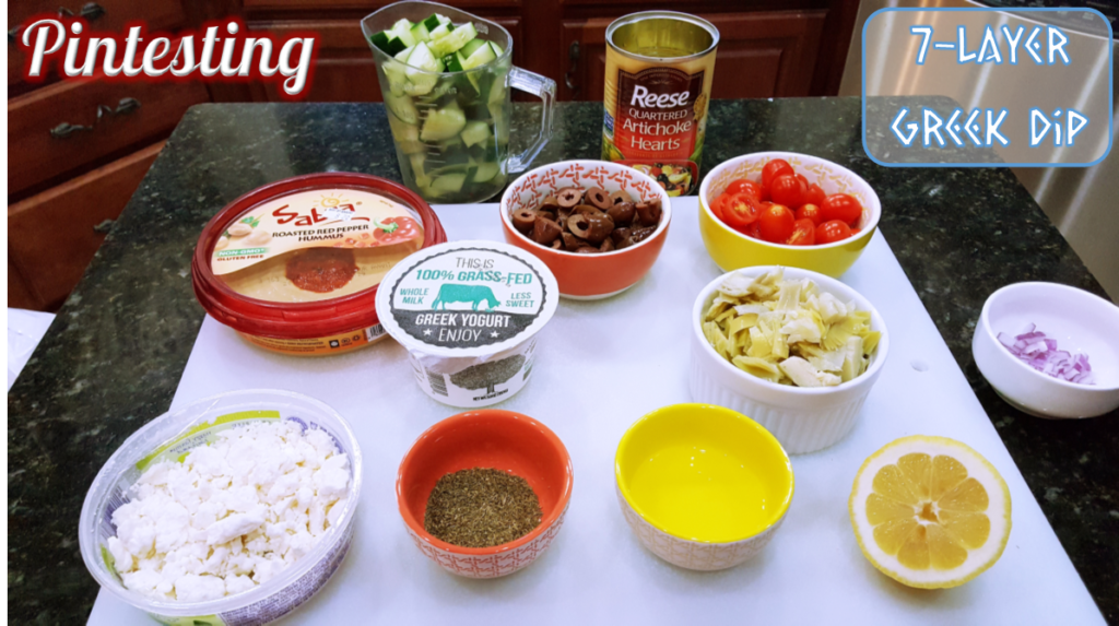 Pintesting 7-layer Greek Dip