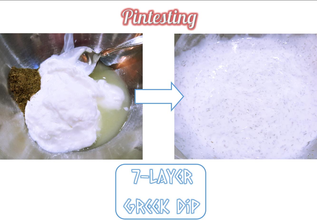 Pintesting 7-Layer Greek Dip