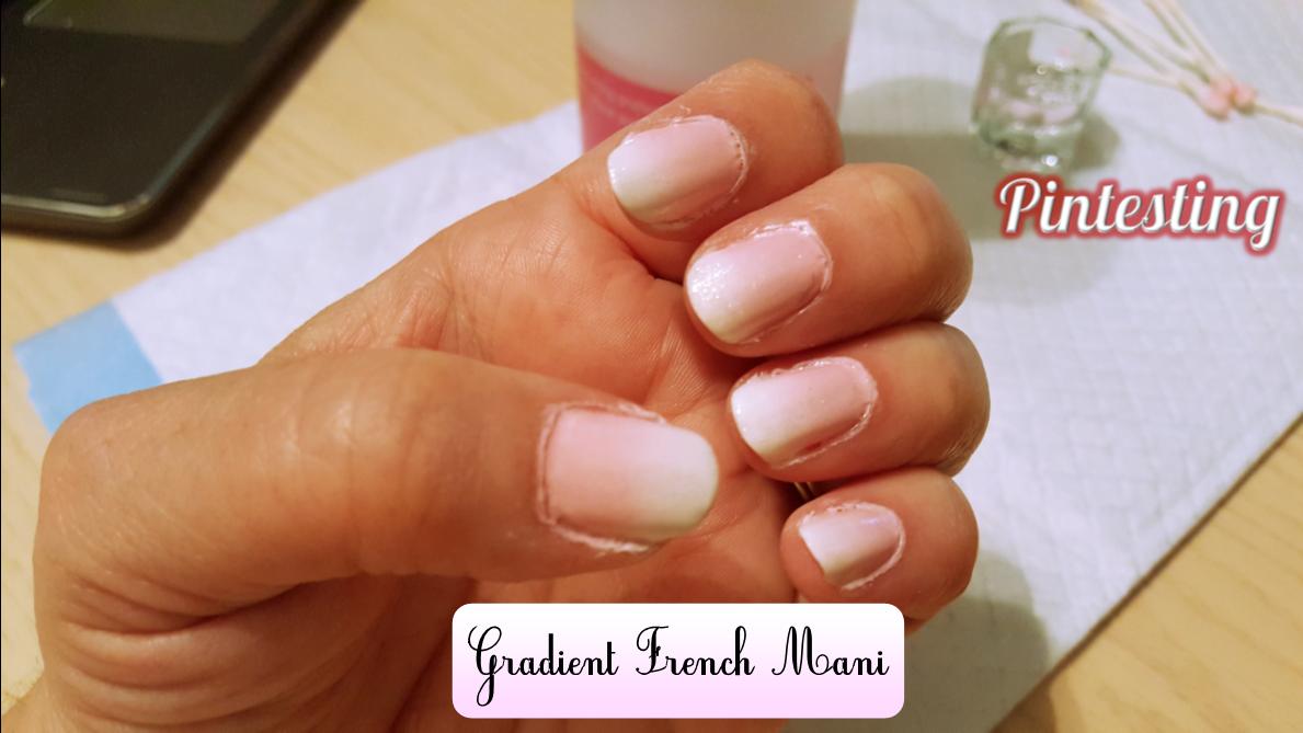 Pintesting Gradient French Mani
