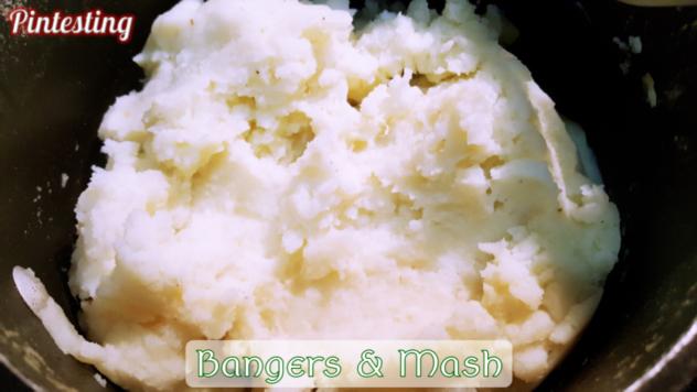 Pintesting True Bangers and Mash with Onion Gravy