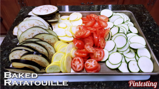 Pintesting Baked Ratatouille - Veggies