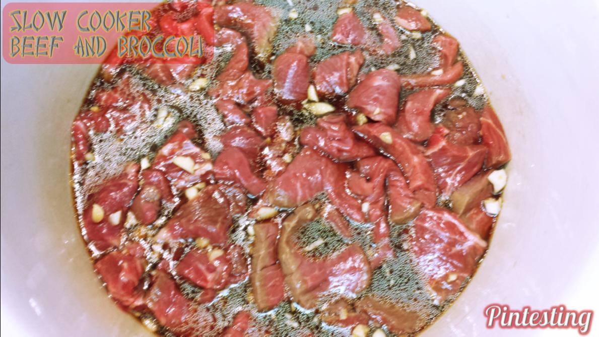 Pintesting Slow Cooker Beef and Broccoli