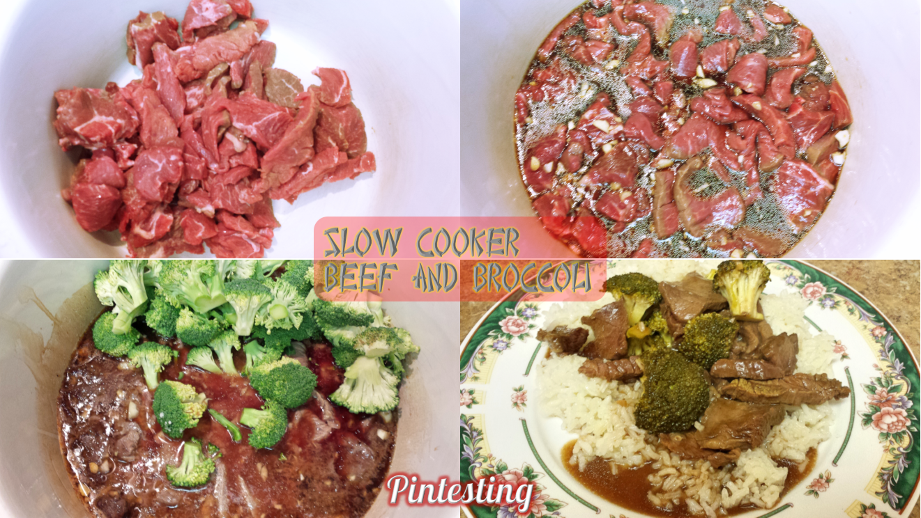 Pintesting Slow Cooker Beef and Broccoli