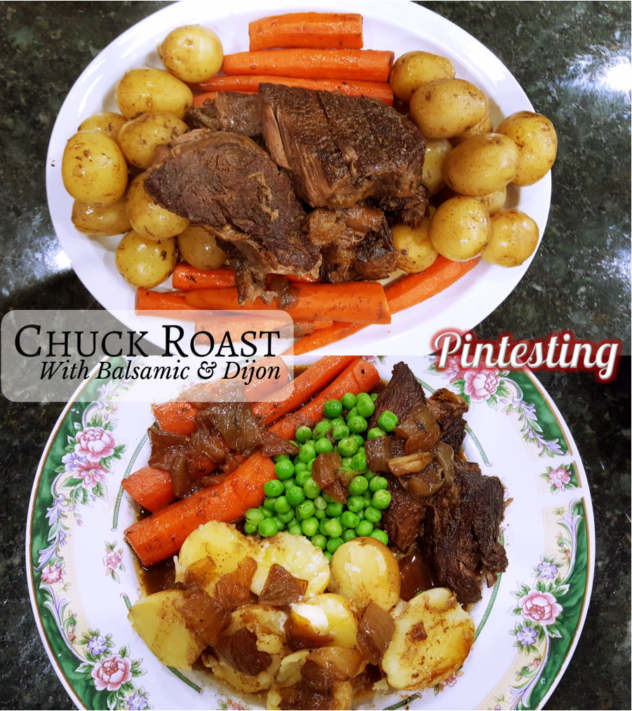 Pintesting Chuck Roast with Balsamic and Dijon