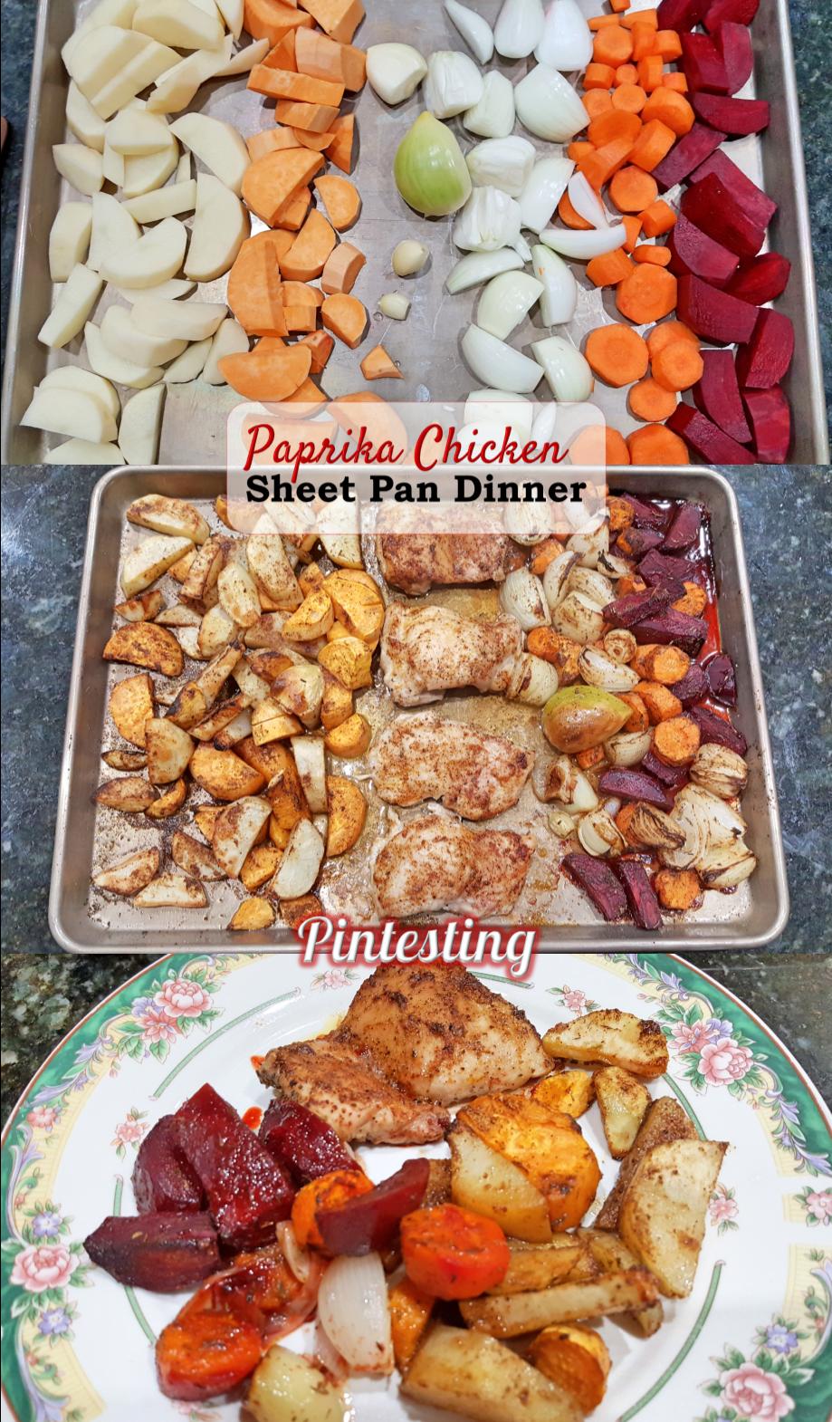 Pintesting Paprika Chicken Sheet Pan Dinner