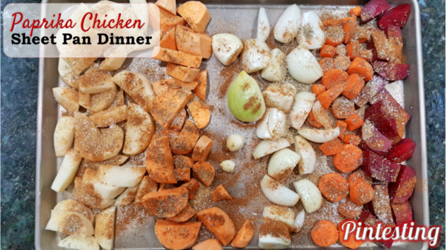 Pintesting Paprika Chicken Sheet Pan Dinner