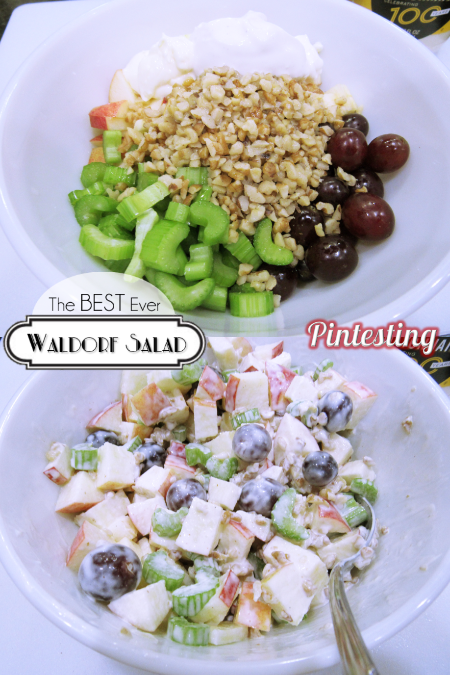 Pintesting Best Ever Waldorf Salad