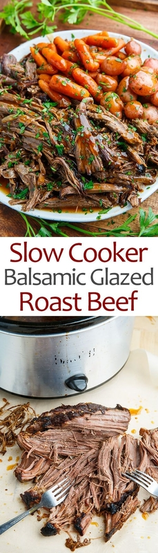 Pintesting Slow Cooker Balsamic Galzed Roast Beef
