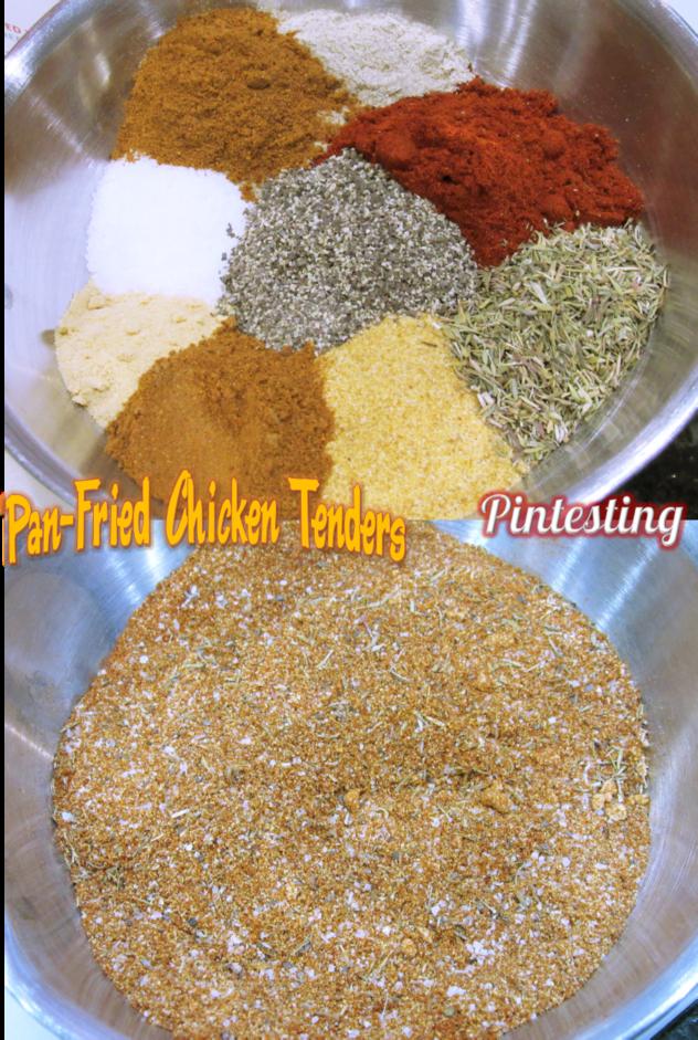 Pintesting Pan-Fried Chicken Tenders