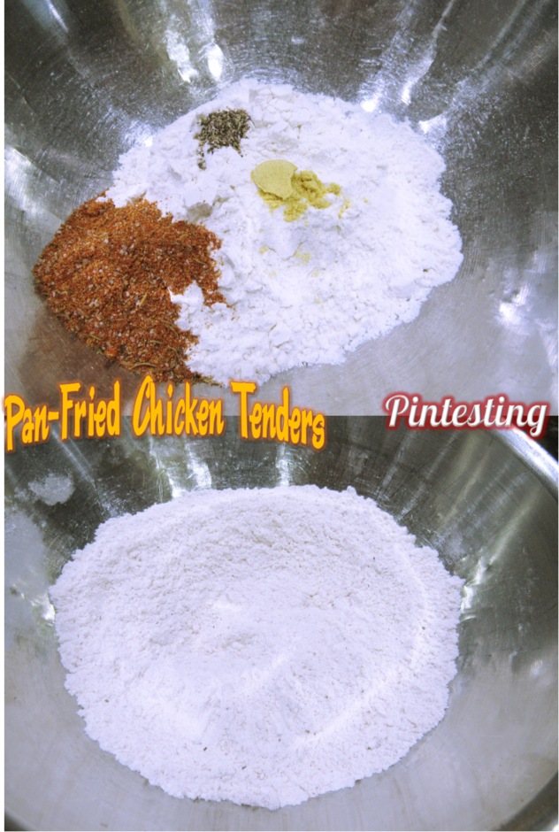 Pintesting Pan-Fried Chicken Tenders
