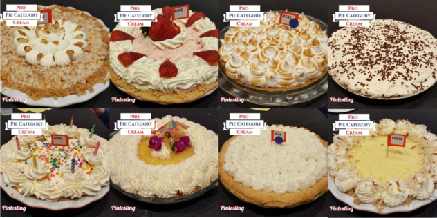2017 Pro Cream Pie Category Pies