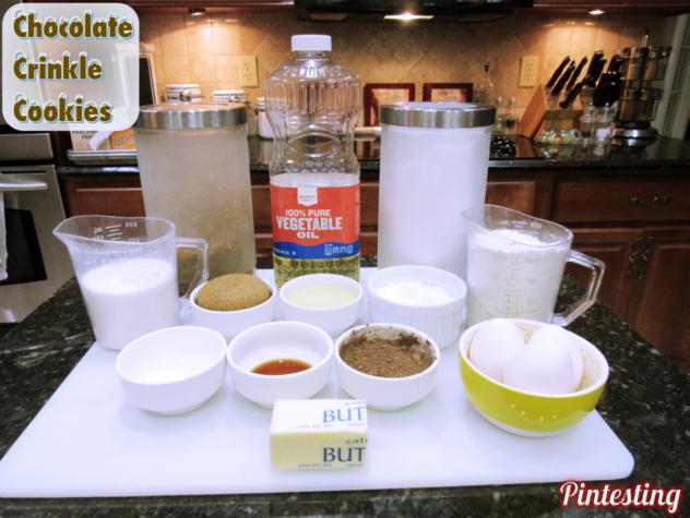 Pintesting Chocolate Crinkle Cookies