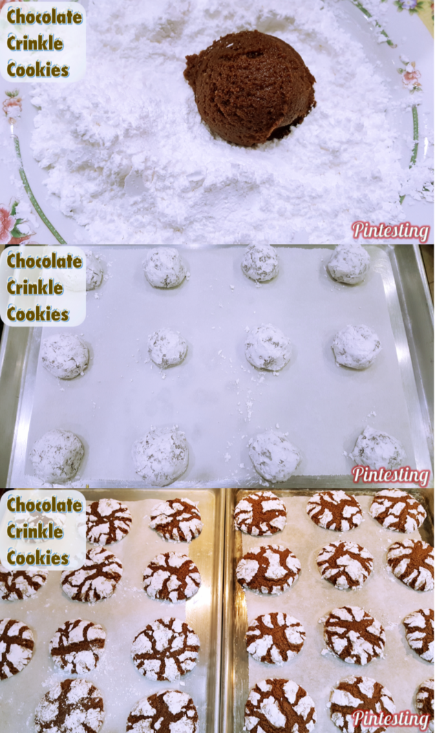 Pintesting Chocolate Crinkle Cookies