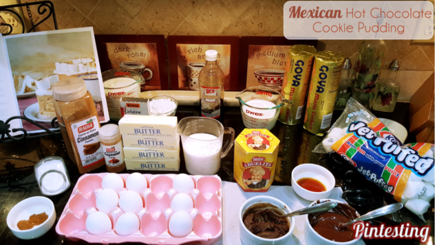 Pintesting Mexican Hot Chocolate Cookie Pudding - Ingredients